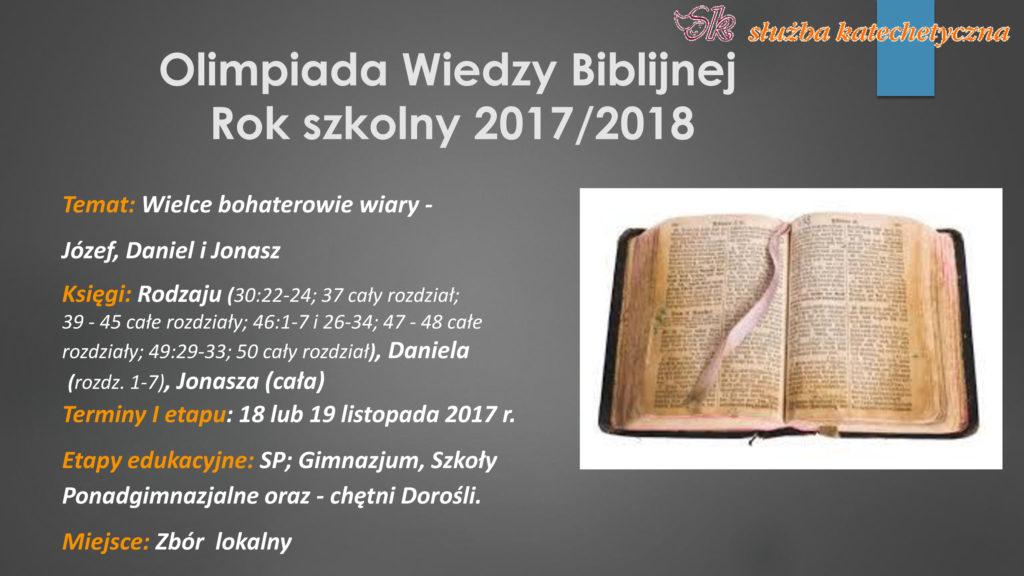 Olimpiada Wiedzy Biblijnej
