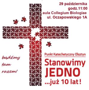 7 - Stanowimy jedno zaproszenie na nabożeństwo 29 X C_ollegium Biologiae
